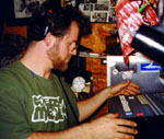 jrob mixing in the smallest closet he's ever worked in, NYC Nov 97